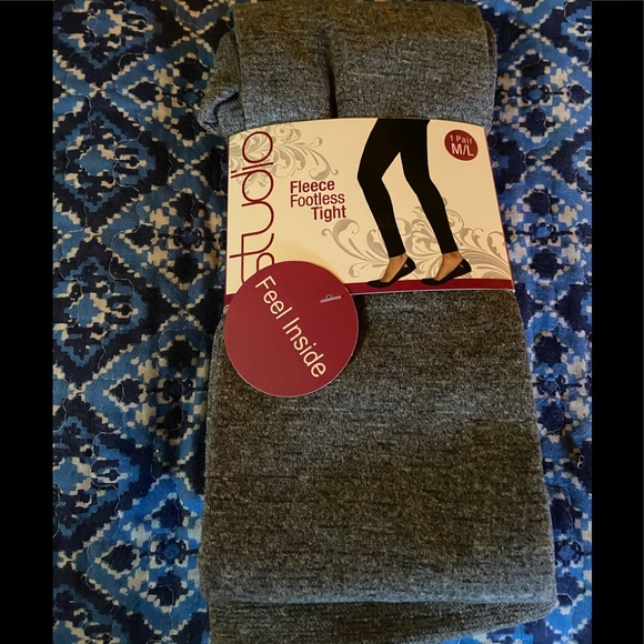 Studio Other - Plush Fleece-Lined Footless Tights